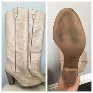 Aldo talk cream boots